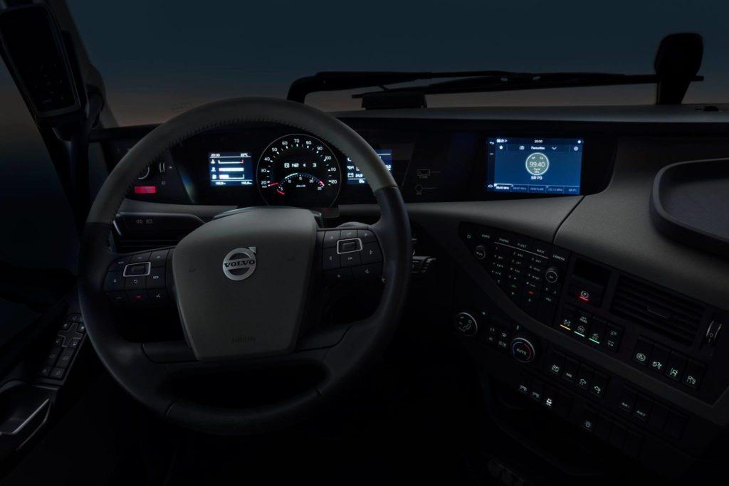 volvo truck dashboard