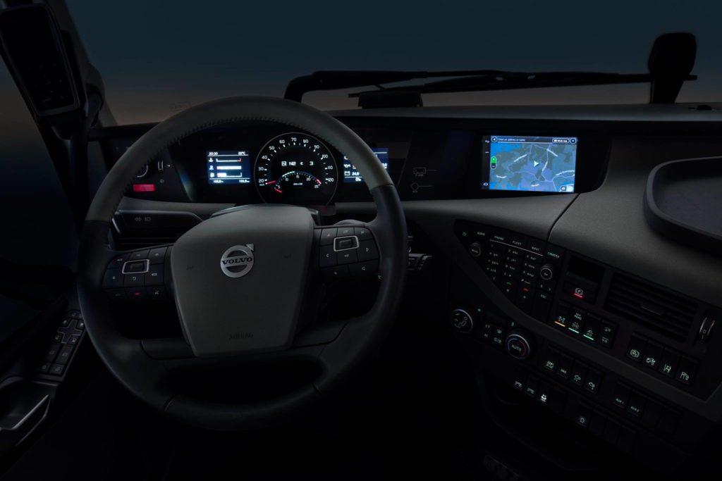 volvo truck dashboard gps