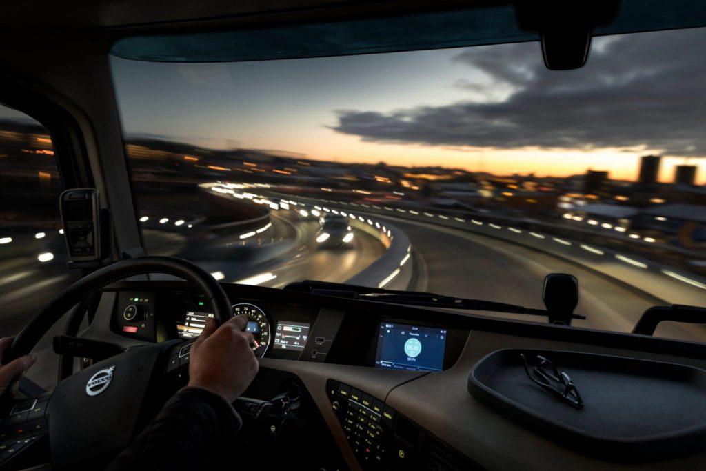 volvo truck driving