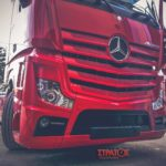 mercedes actros red rear